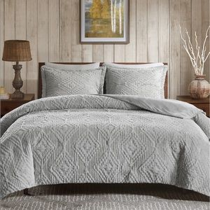 3-Pc. Reversible Faux-Fur King/Cal Coverlet Set